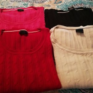 Cable Knit Sweaters lot of 4